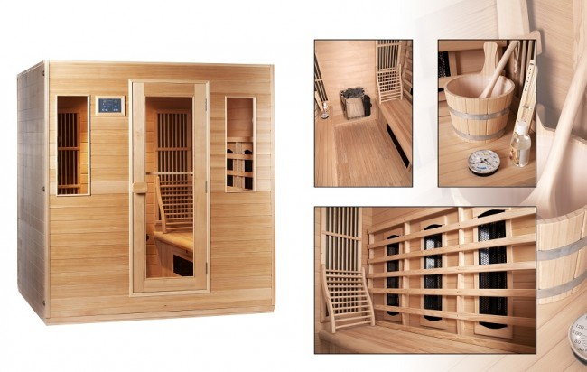 sauna und infrarot kombi f r 6 personen ab 3095 gunstiger preis. Black Bedroom Furniture Sets. Home Design Ideas