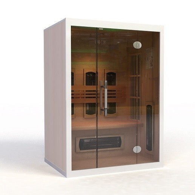 infrarotkabine kaufen mit glasfront futura ab 2145. Black Bedroom Furniture Sets. Home Design Ideas