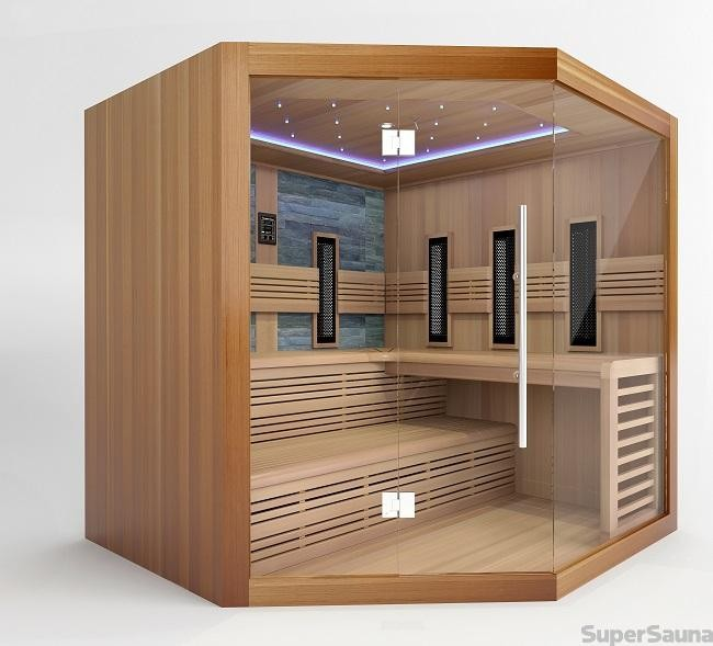 sauna und infrarot kombi kaufen f r 4 6 personen. Black Bedroom Furniture Sets. Home Design Ideas