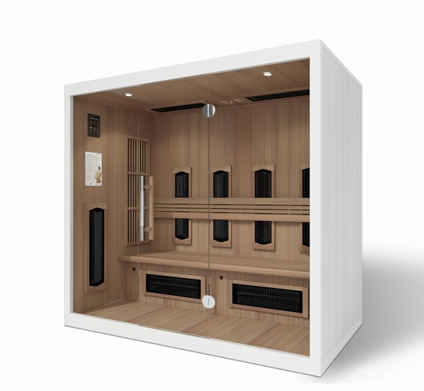 sauna und infrarot kombi mit glasfront zum liegen 3395. Black Bedroom Furniture Sets. Home Design Ideas