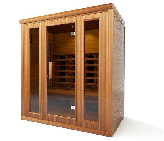 sauna und infrarot kombi rote zeder kaufen f r 4 personen ab 3395. Black Bedroom Furniture Sets. Home Design Ideas