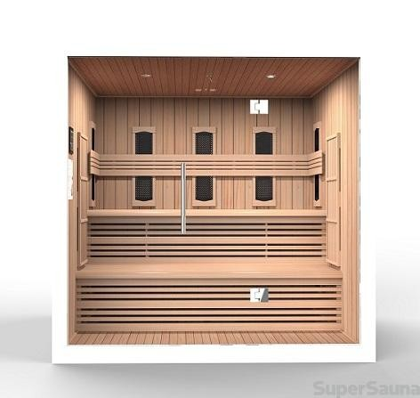 infrarot sauna kaufen mit glasfront f r liege 3799 supersauna. Black Bedroom Furniture Sets. Home Design Ideas
