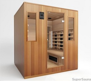 sauna infrarot kombi kaufen from 2495. Black Bedroom Furniture Sets. Home Design Ideas